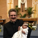 Kaitlyn and Fr. Robert - following The Easter Vigil in the Holy Night 2016